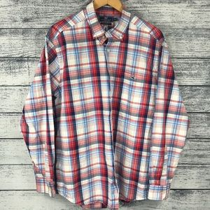 Vineyard Vines Slim Fit Plaid Tucker Shirt XL
